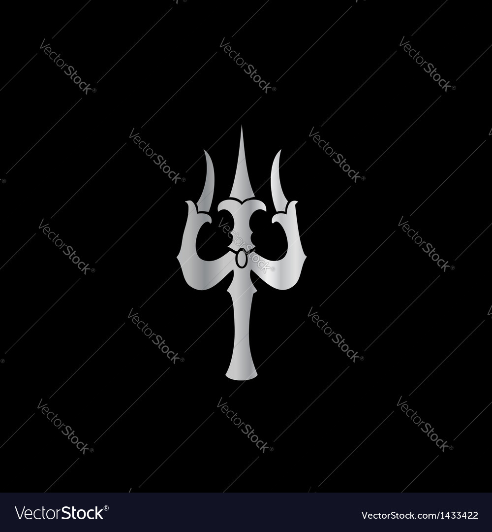 Lord shiva trishul picture - Trident Of Lord Shiva Hinduism Vector Image