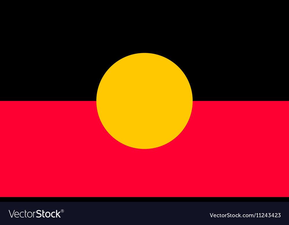 Australian Aboriginal flag in correct size color vector image