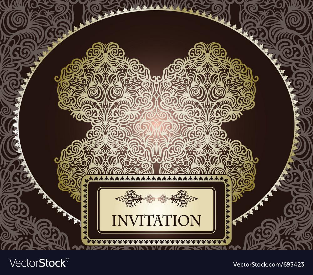 Invitation template vector image
