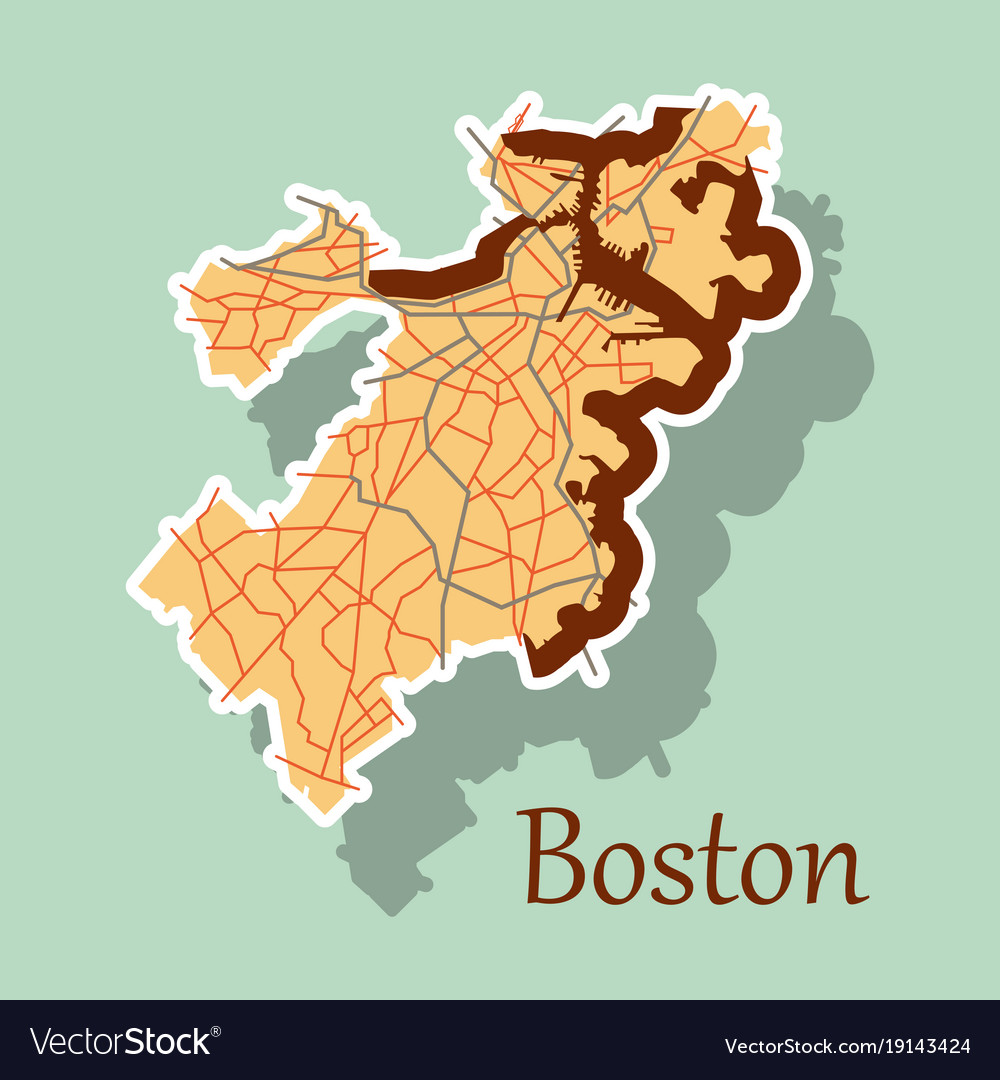 Map of boston city sticker royalty free vector image map of boston city sticker vector image publicscrutiny Images