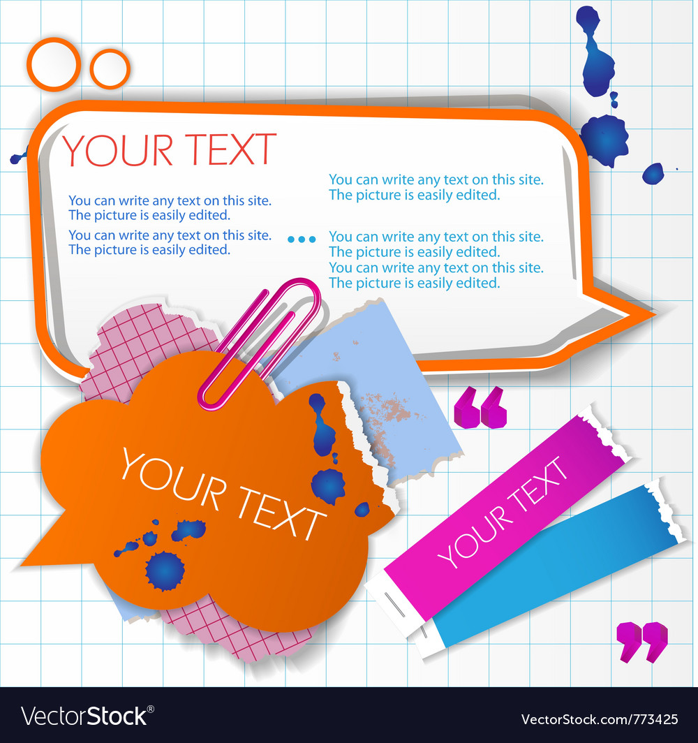 Colorful little notes Vector Image