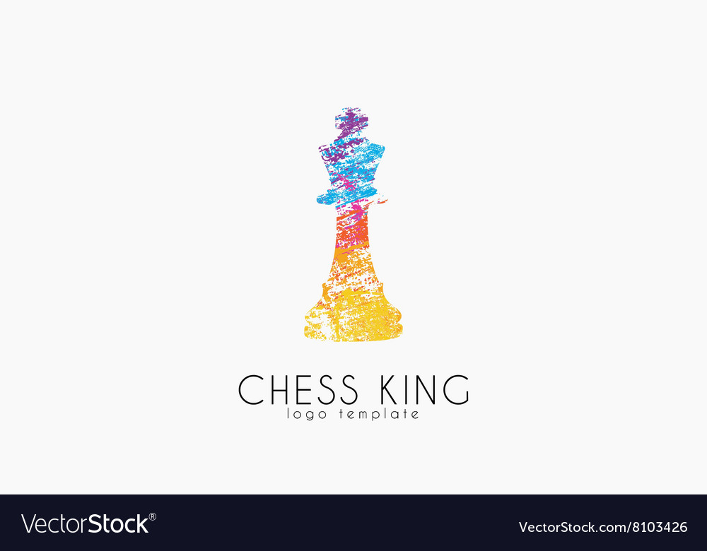 Chess king logo Chess logo King logo Creative vector image