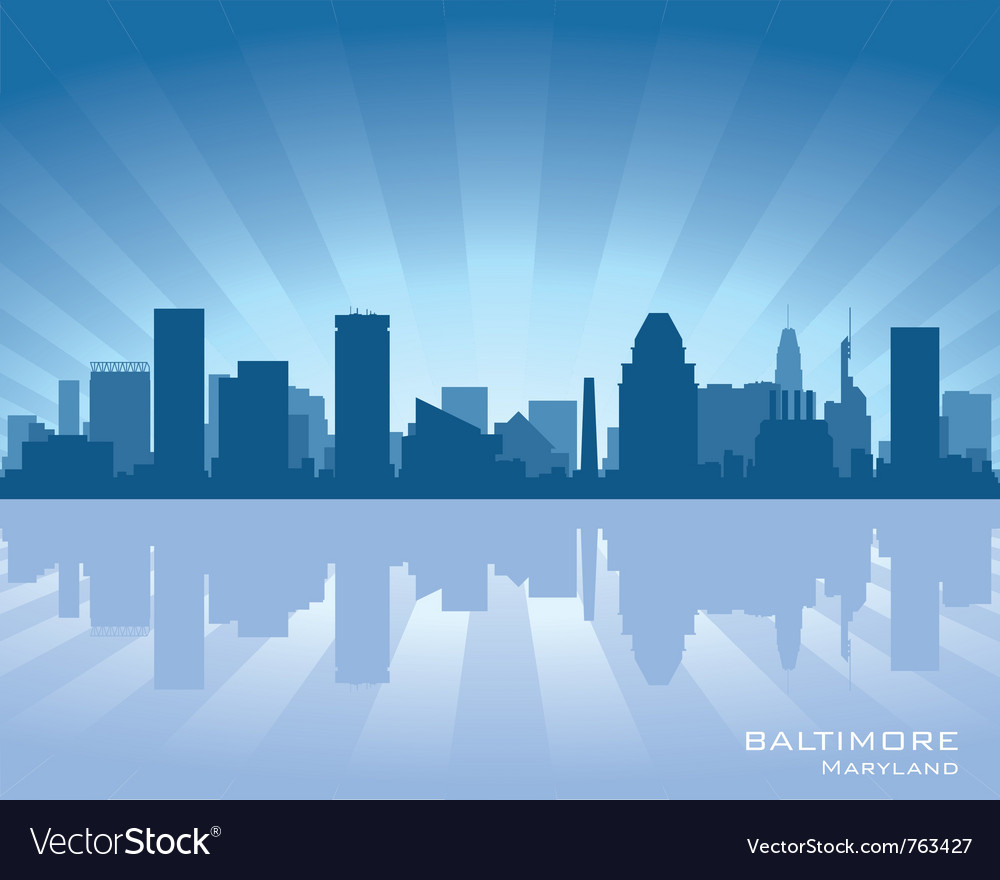 Baltimore maryland skyline vector image