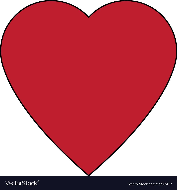 Red big heart health care medicine symbol vector image buycottarizona Image collections