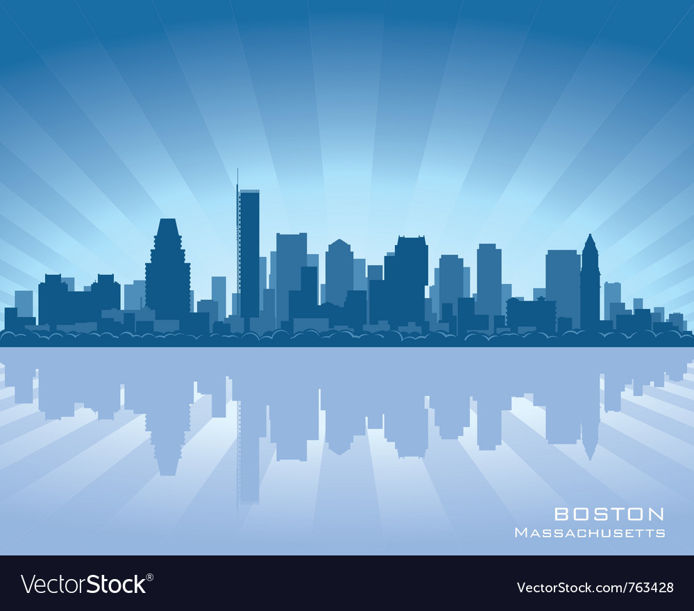 Boston massachusetts skyline vector image