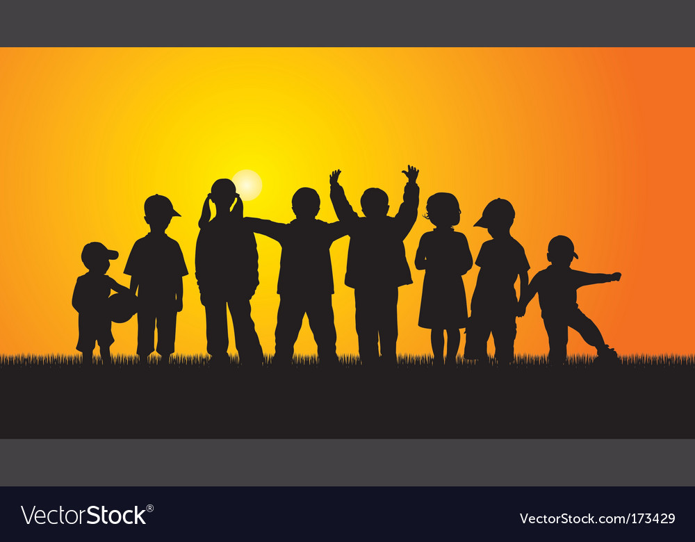 Kids outdoor vector image