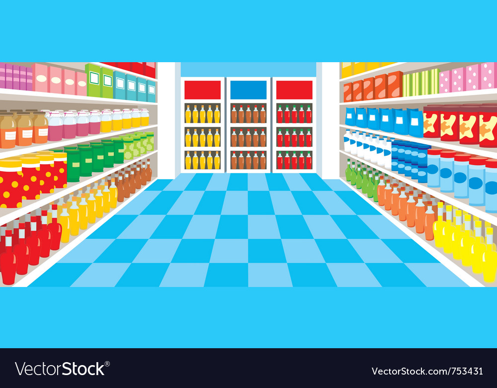 Supermarket vector image