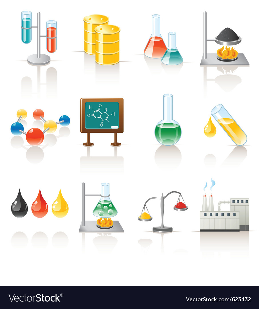 Chemical objects Vector Image