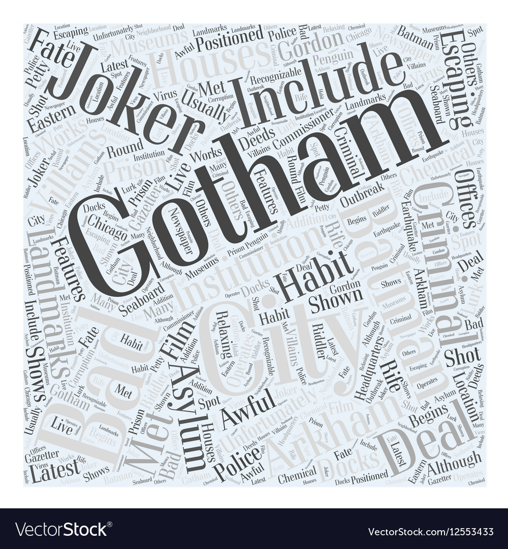 Gotham city Word Cloud Concept vector image
