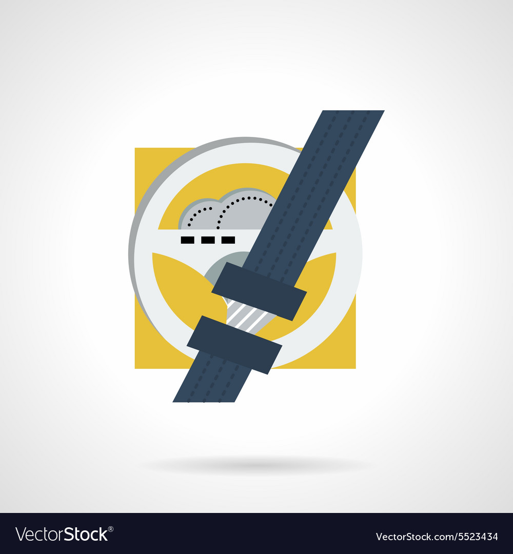 Driver safety flat icon vector image