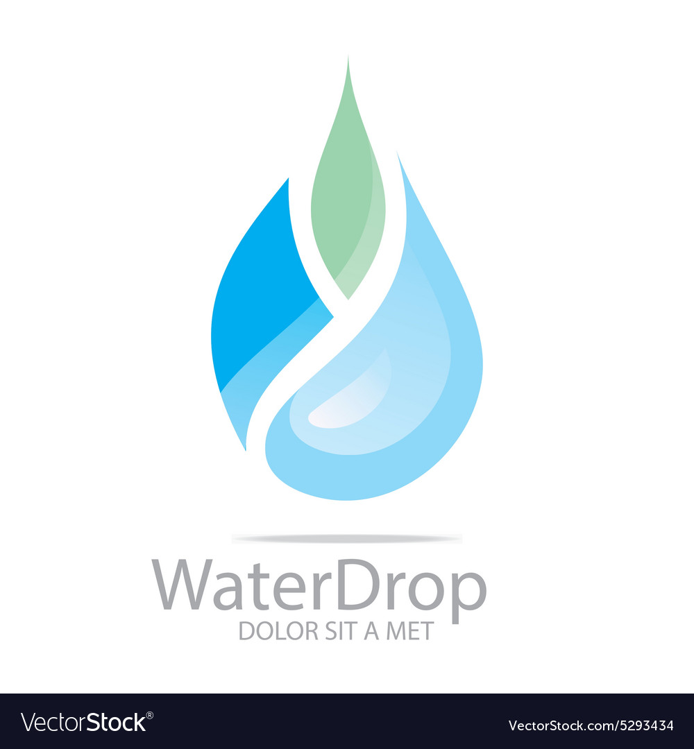 Water drop pure symbol icon business design vector image biocorpaavc Image collections