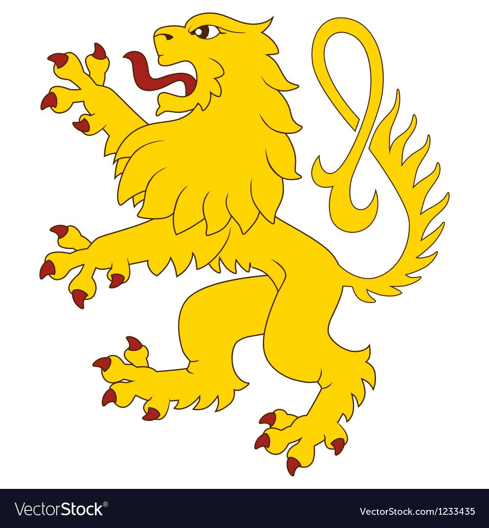 Heraldic lion 27 vector image