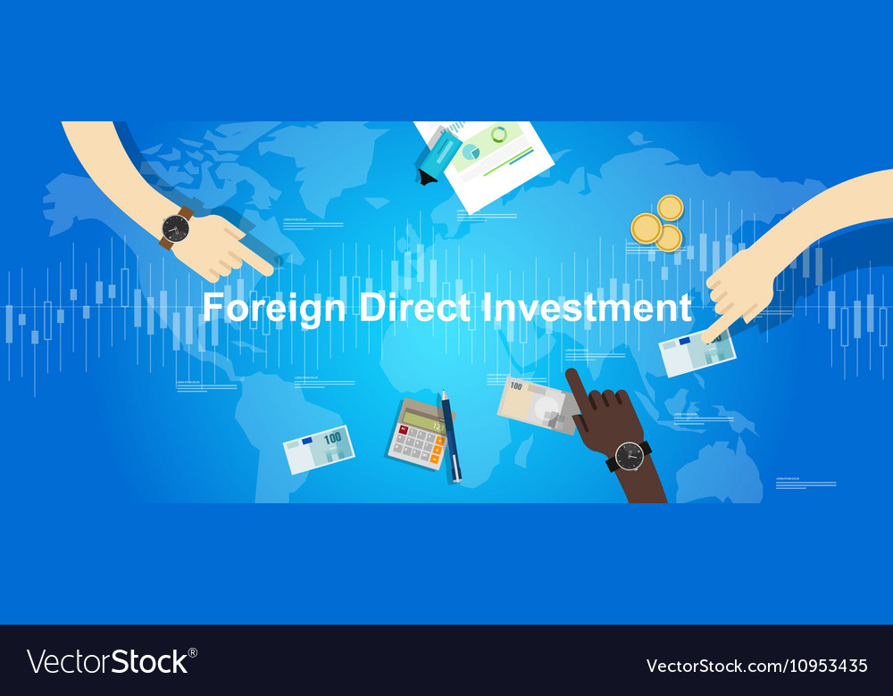 FDI Foreign Direct Investment concept vector image