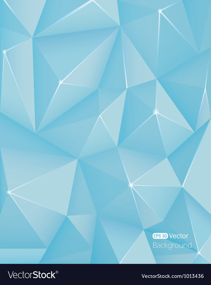 Abstract light blue triangle background Vector Image