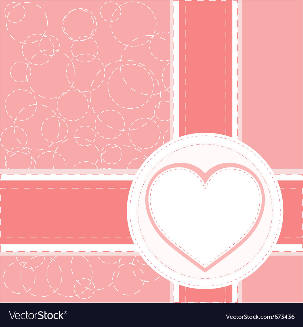 Valentine love heart vector image