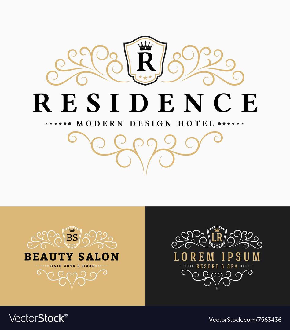 Luxurious Royal Logo Design vector image