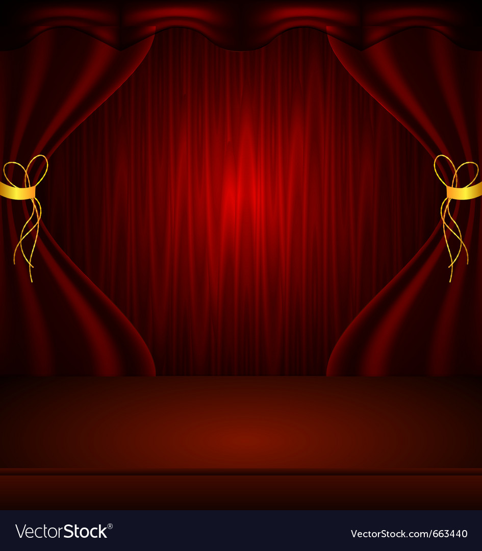 Curtain vector image