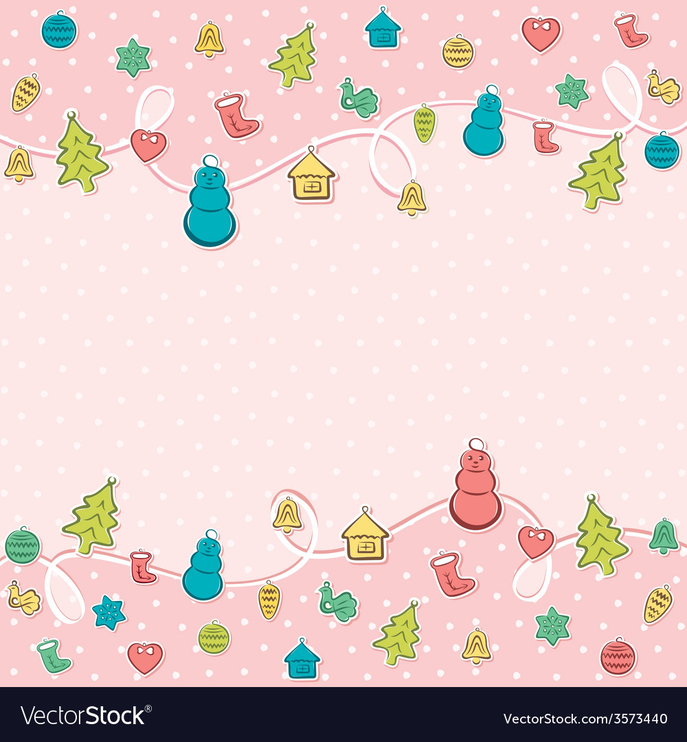 Merry christmas object icon background design vector image