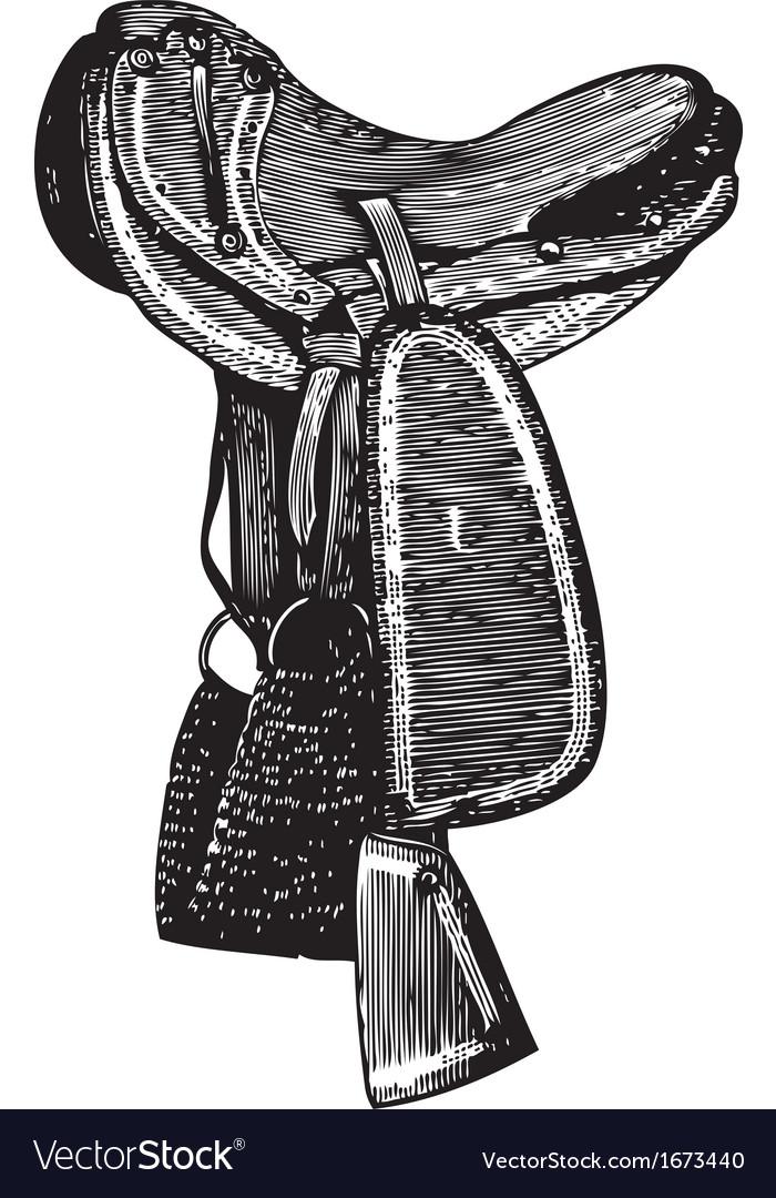 Packsaddle vector image