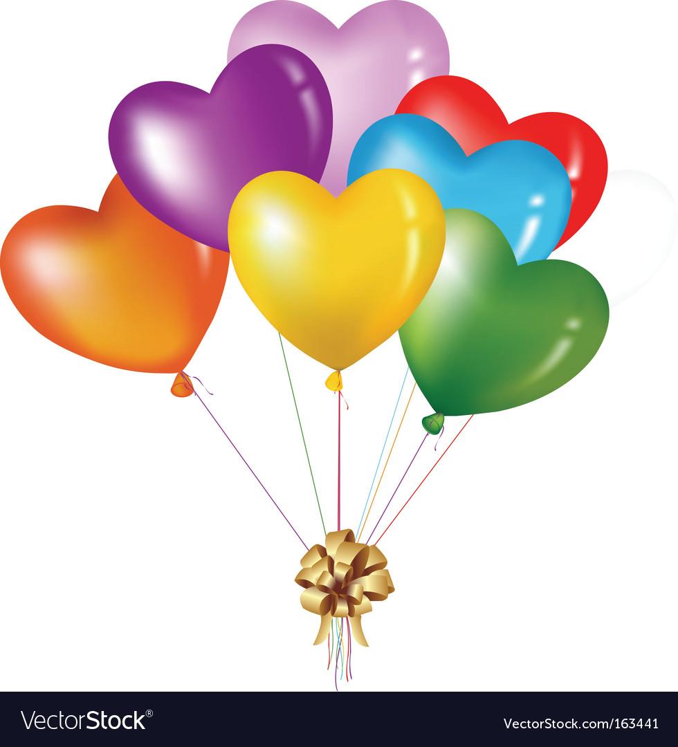 heart balloons royalty free vector image vectorstock