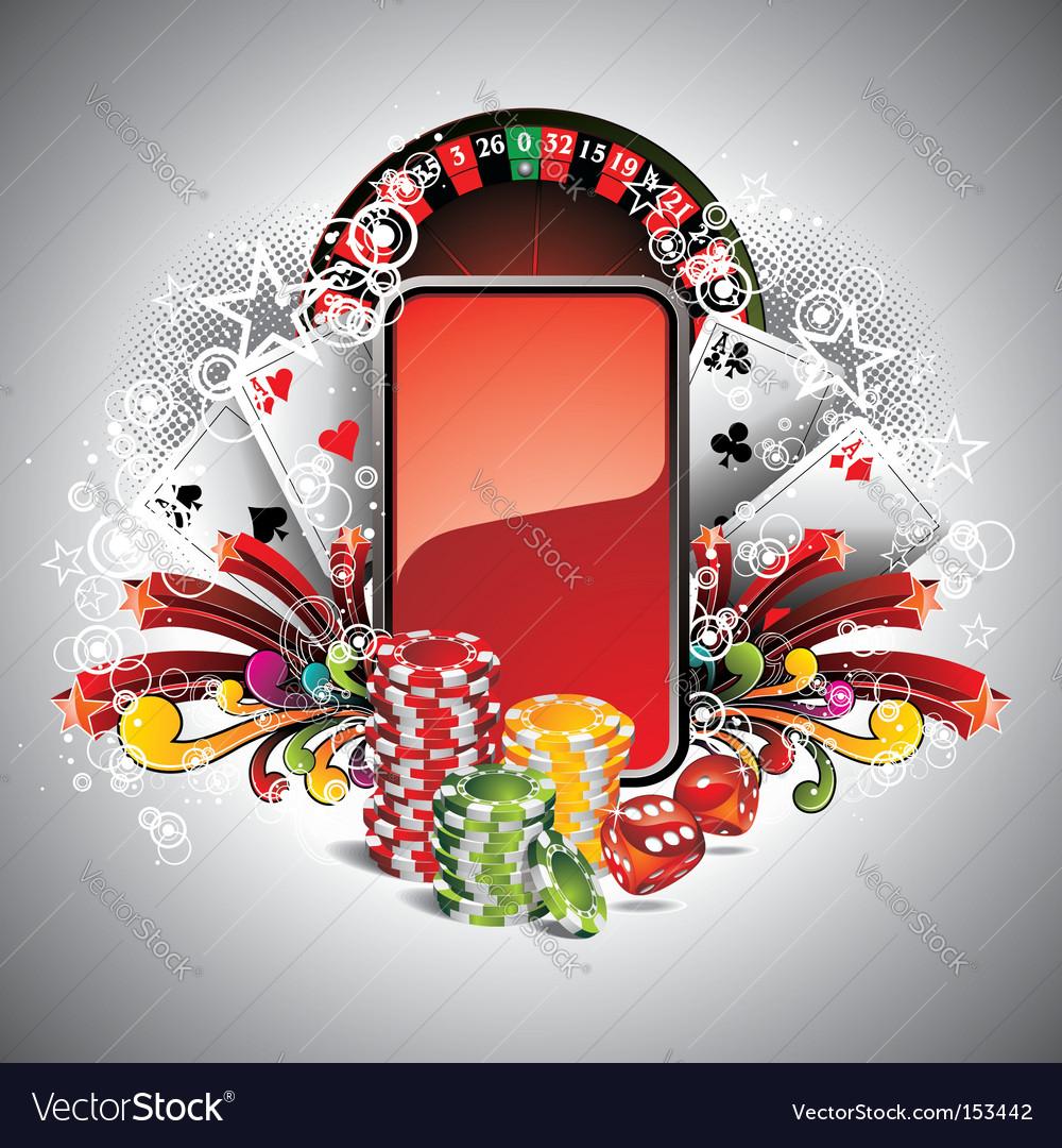 Casino illustration vector image