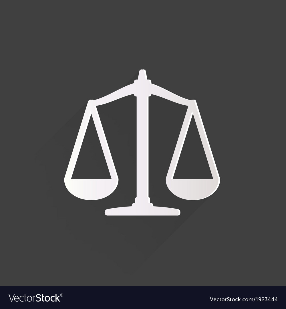 Scales balance icon vector image