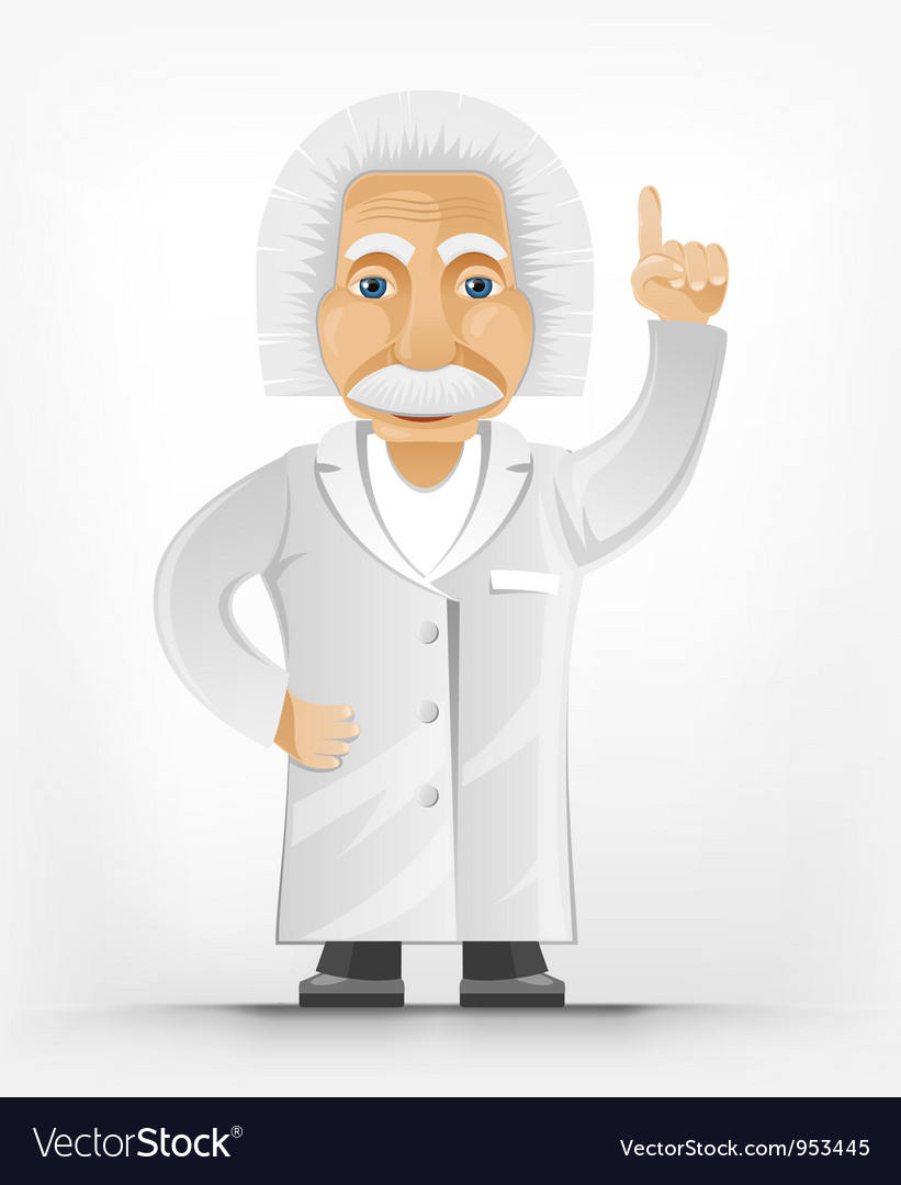 Einstein Idea vector image