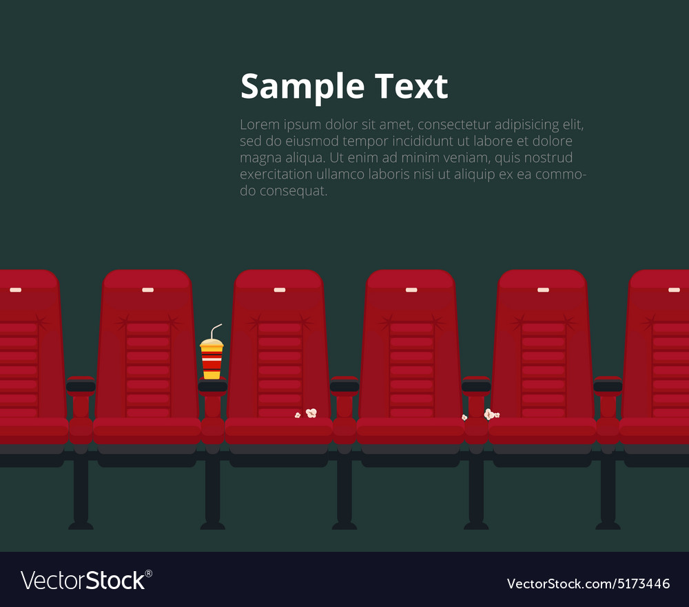 Cinema Chairs Poster With Sample Text Vector Image