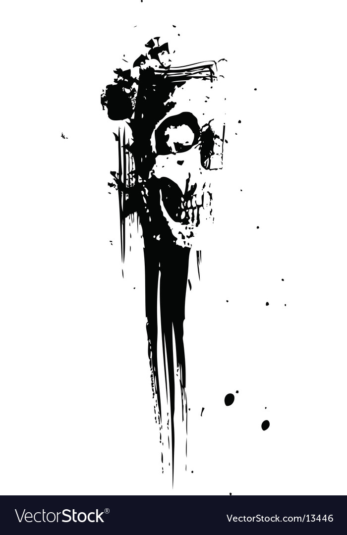 Splatter skull illustration vector image