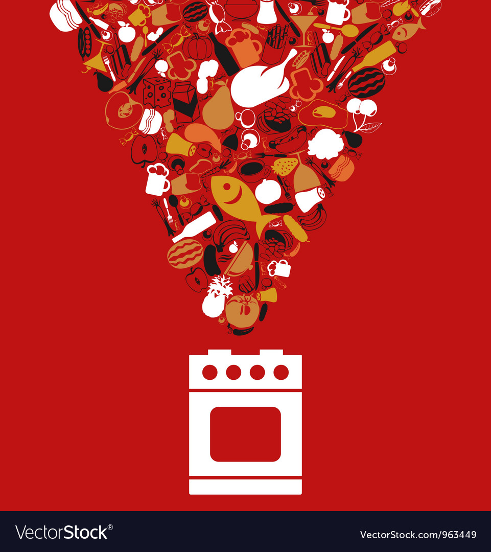 Food cooking vector image