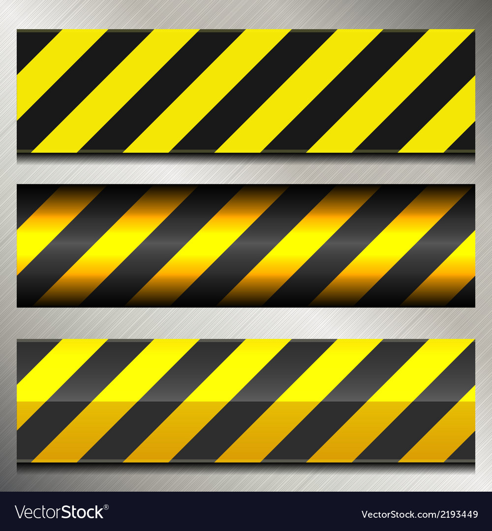 Set of Danger and Police Warning Lines vector image