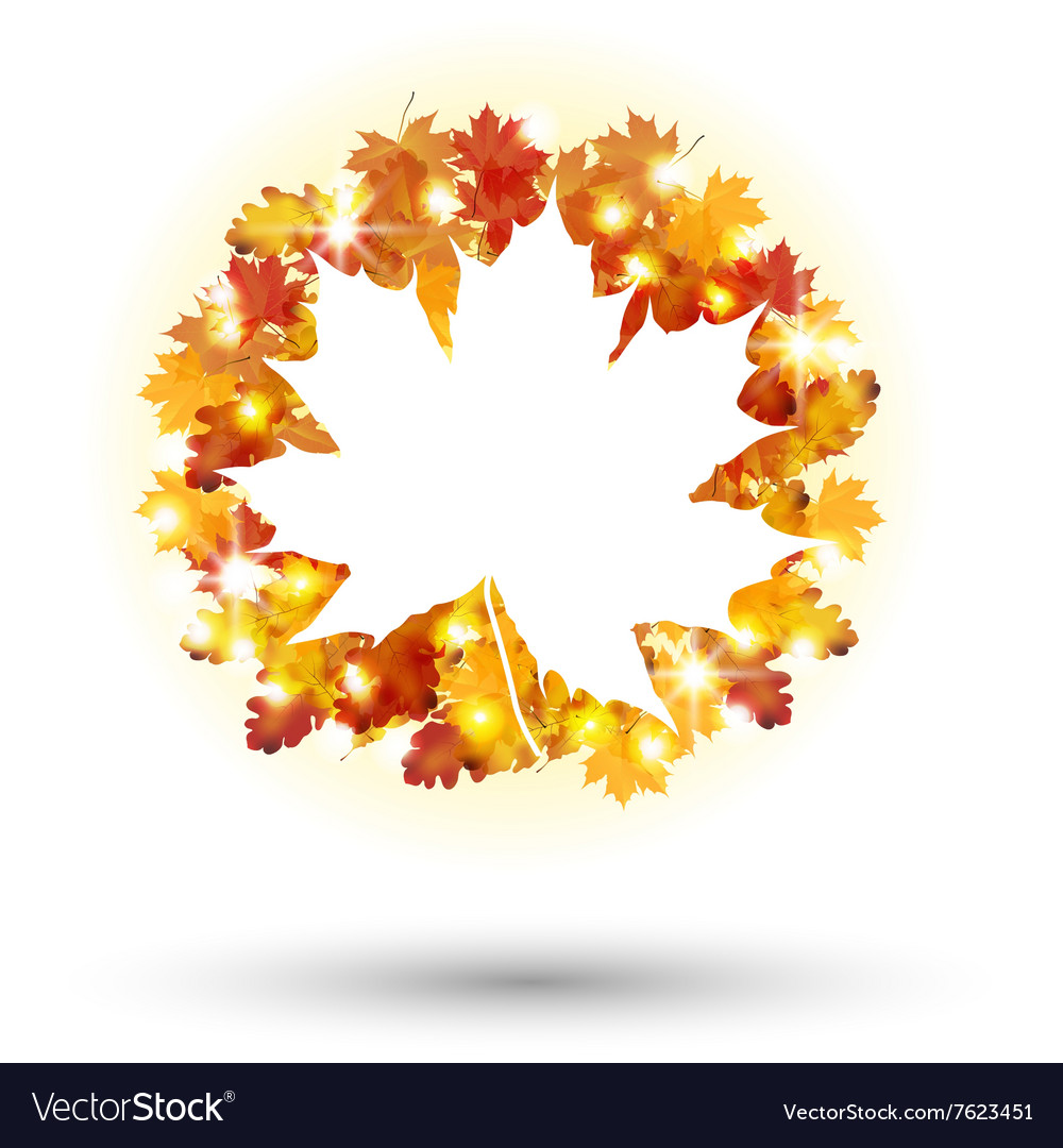 Autumn Frame concept circular isolated background vector image