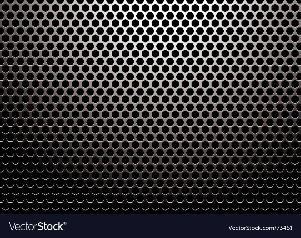 Hexagon metal vector image