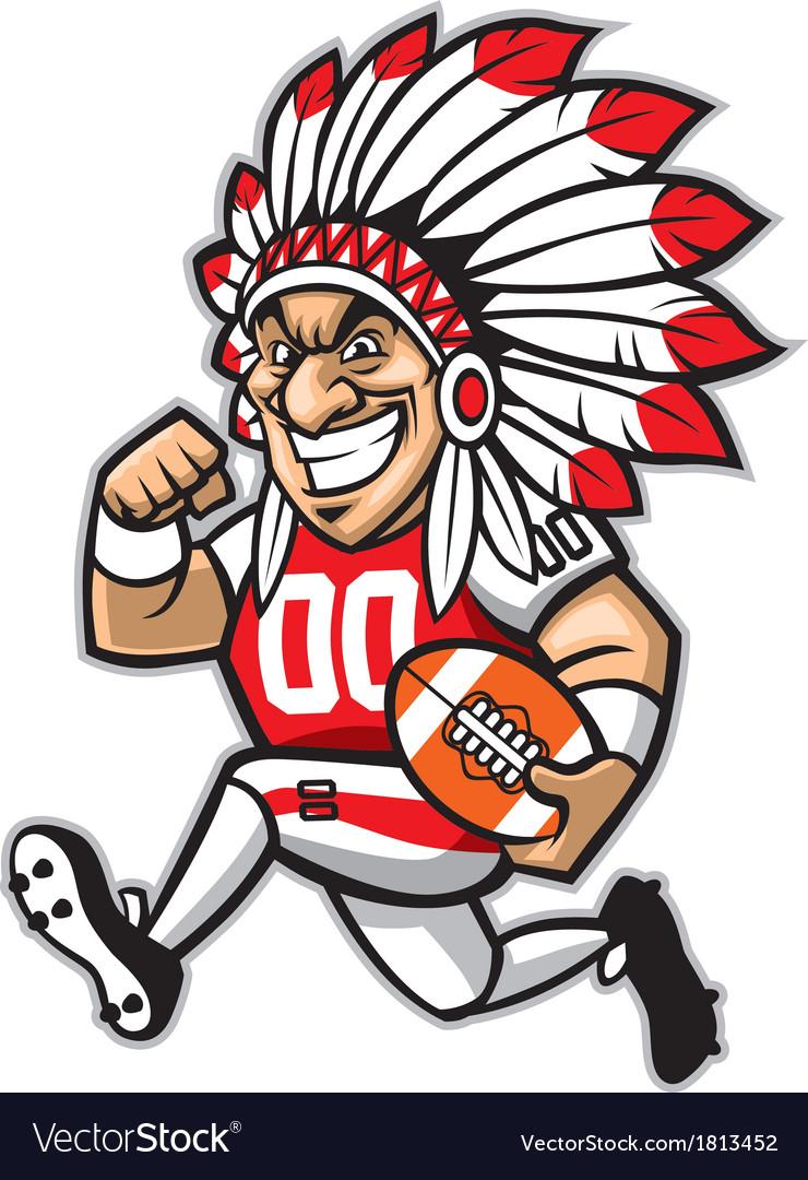 Chief american football mascot vector image
