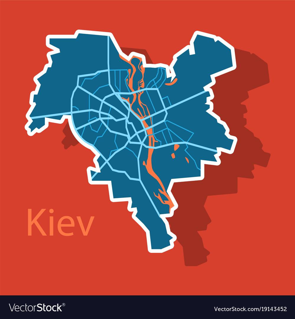 Map of the districts of kiev ukraine sticker vector image map of the districts of kiev ukraine sticker vector image gumiabroncs Images
