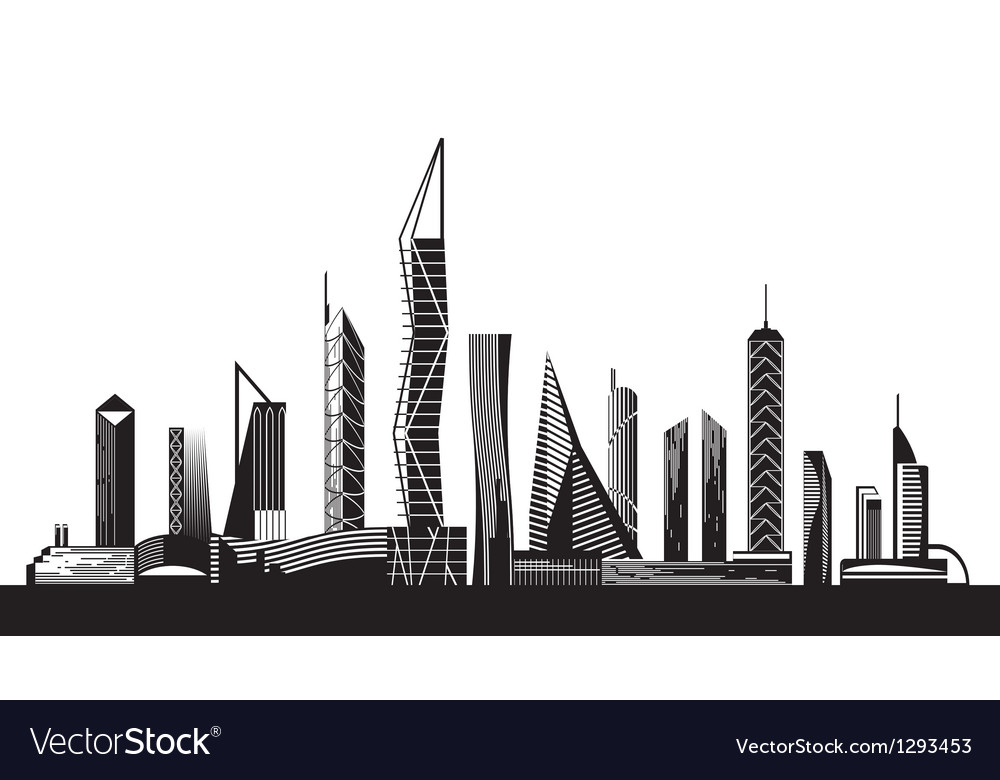 Urban cityscape by day vector image