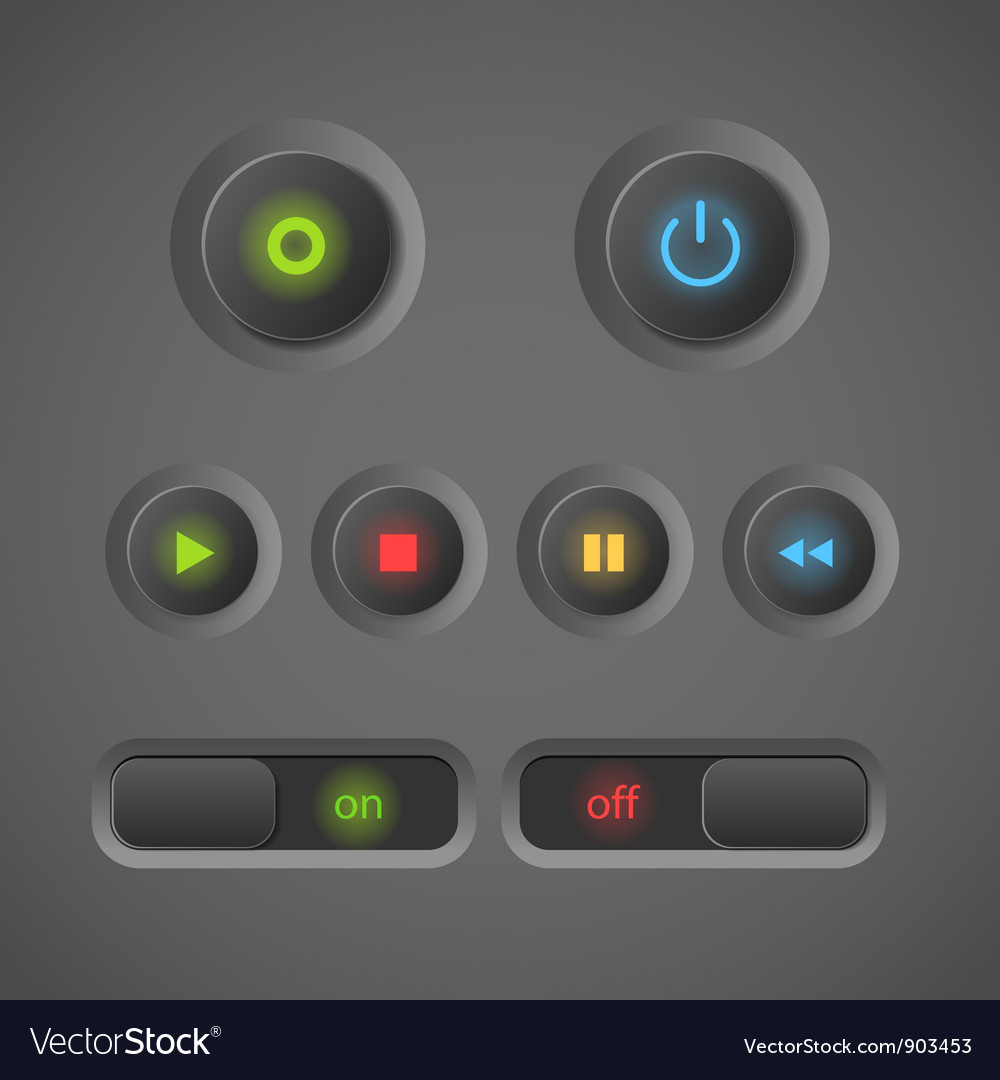 Blinking buttons vector image
