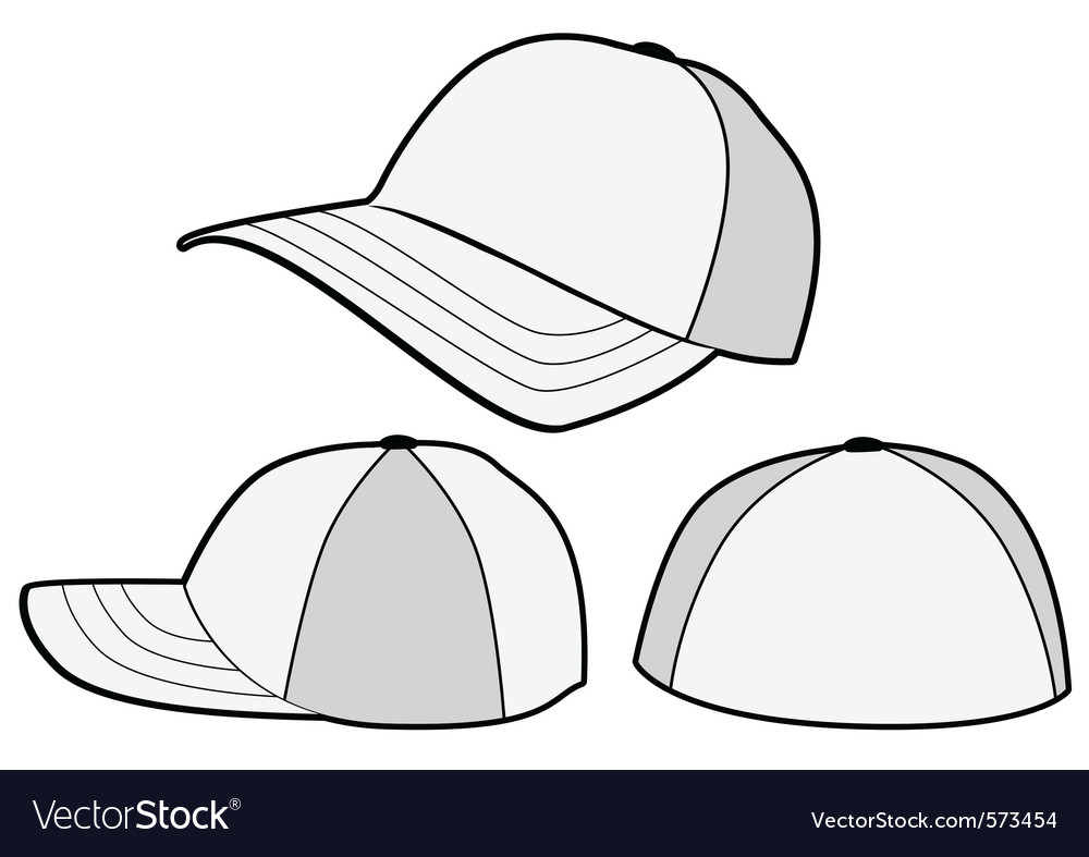 baseball hat or cap template royalty free vector image