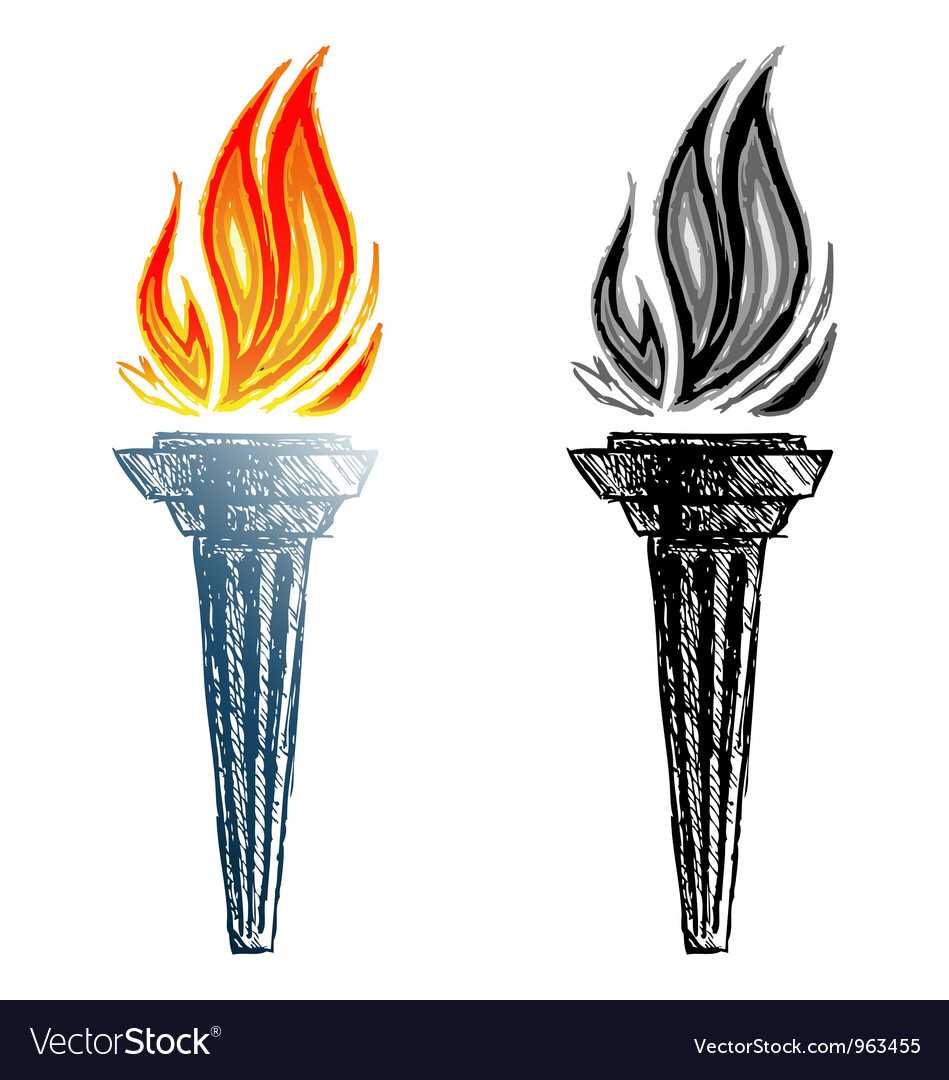 Sign torch vector graphics