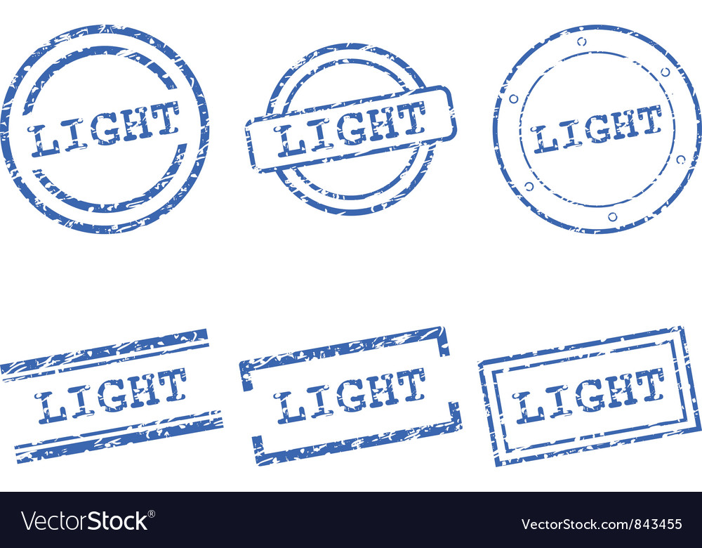 Light stamp vector image