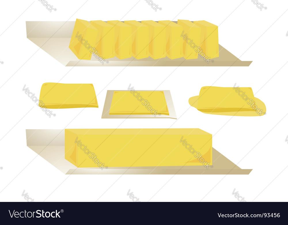 Butter set vector image