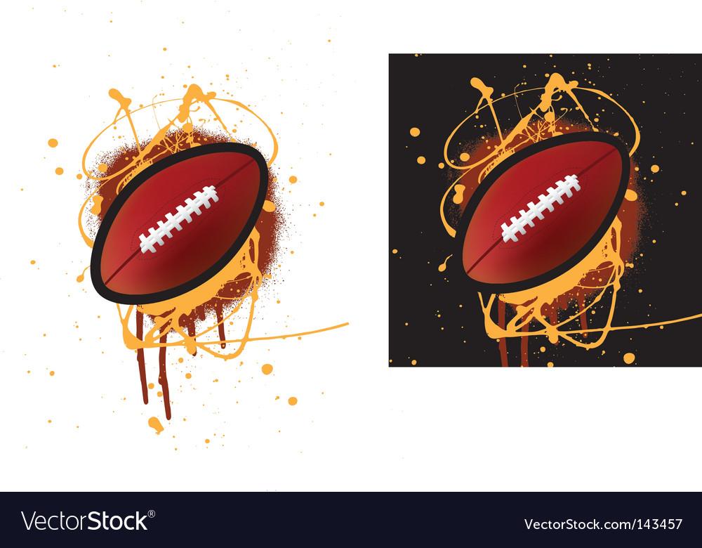 American football splat vector image