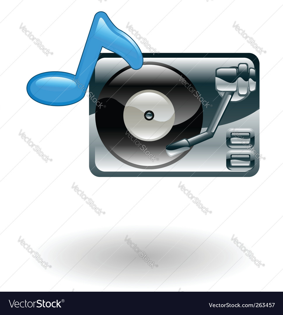 Record player illustration vector image