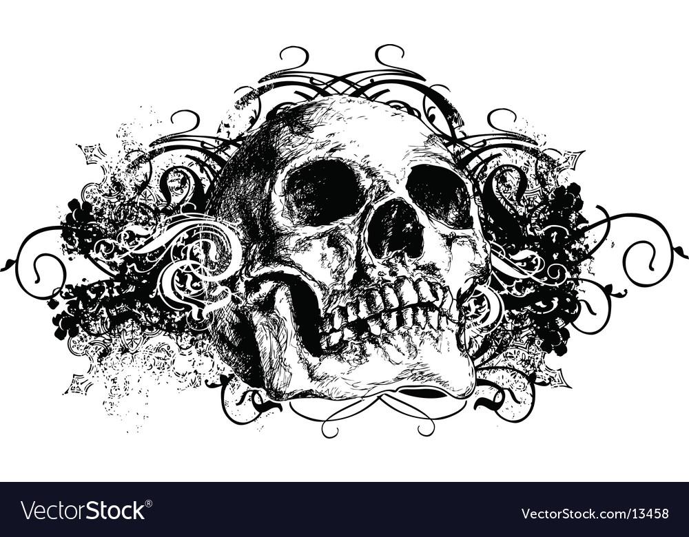 Grunge skull vector image