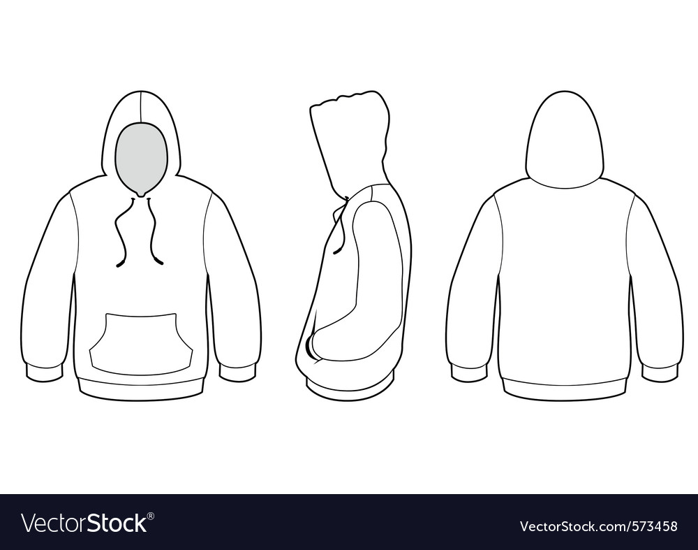Hooded Sweater Template Royalty Free Vector Image