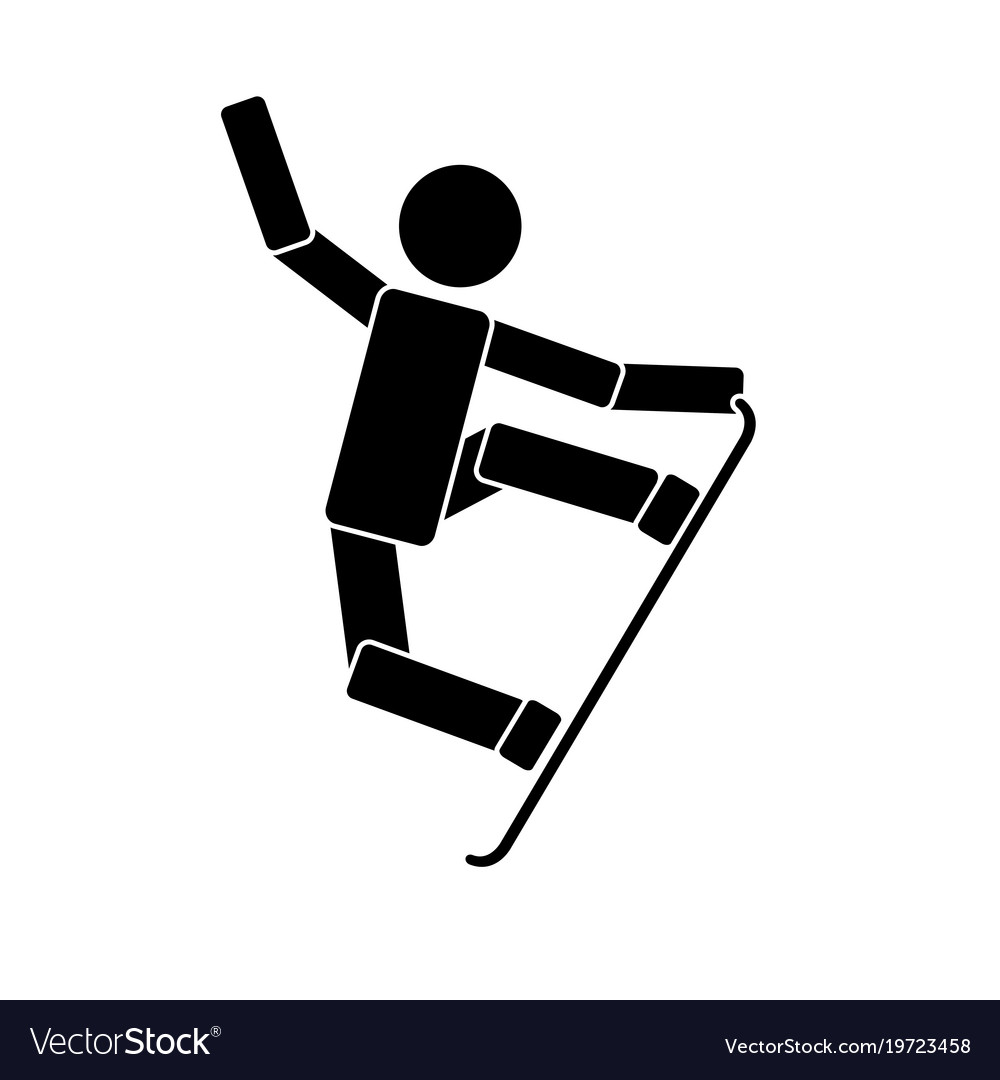Snowboarding icon on white background vector image