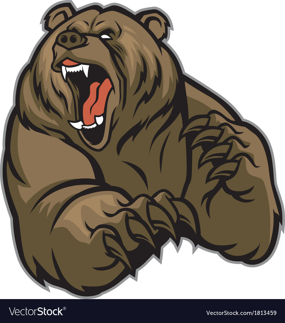 Grizzly bear mascot Vector Image