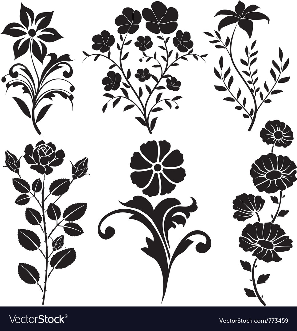 flowers decorative vector image - Decorative Flowers