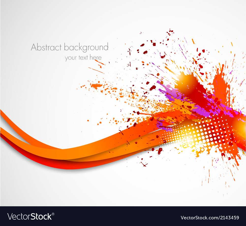 Abstract grunge wavy background vector image