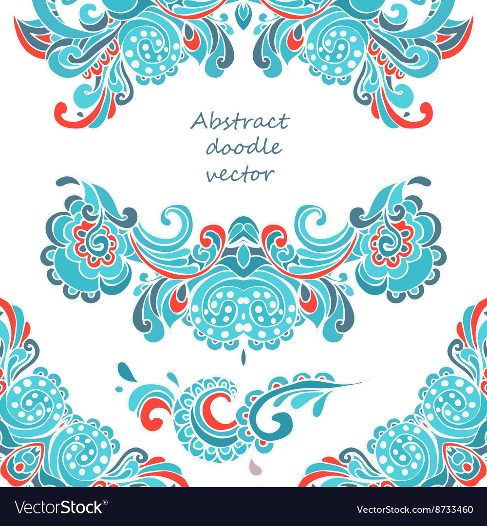 Vintage Christmas decorative elements vector image